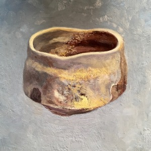 Six works in progress, Paintings of Marc Lancet Tea Bowls